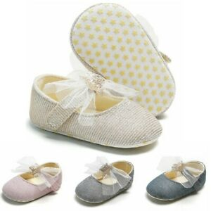 Toddler Infant Kids Baby Girls Princess Cute First Walk Star Sequin Spring Shoes
