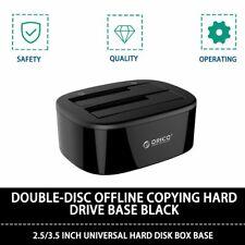 "Orico USB3.0 Dual Bay SATA Hard Drive Docking Station 2.5/3.5"" HDD Dock Clone JR"