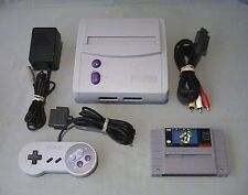 SUPER NINTENDO SNES MINI CONSOLE BUNDLE LOT STYROFOAM NO BOX SUPER MARIO WORLD!