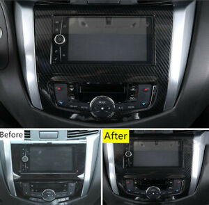 For Nissan Navara NP300 2015-2020 Car Dashboard Navigation Frame Cover Trim 1PC