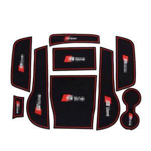 For Audi A3 interior Anti-Slip Mat Auto Cup Holder Gate slot pad Door Slot Mat
