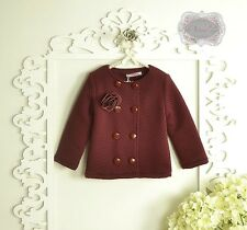 BURGUNDY COAT OUTERWARE SIZE 3T 4T 5T 6 7 GIRLS COAT BOUTIQUE COAT CHRISTMAS GIF