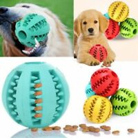 Dog Ball Chew Pet Puppy Teething Treat Clean Bite Toys Durable Training Rubber