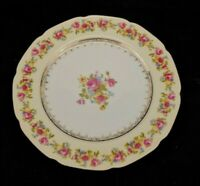 Gold Castle Hostess China Dinner Plate White Vintage