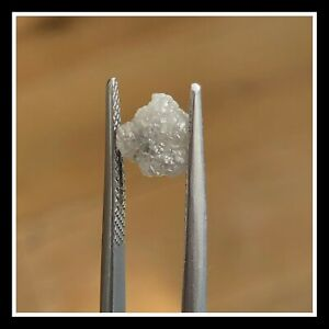 1.30ct Conflict free Natural Grey rough diamond 7mm by 6mm by 3mm