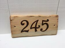 Handmade Personalised Rustic Wooden House Room Number Sign Plaque 20cm x 10cm