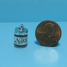 Dollhouse Miniature Glass Jar with Lid Filled with Nuts MUL3372
