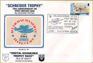 Schneider Trophy First Day Cover, Ram silk No 66,  1984 -Planes Aviation History