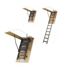 Bodentreppe Speichertreppe Metallleiter FAKRO LMS 60 x 120 x280 aus Metall (LWM)