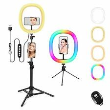 """12"""" RGB Ring Light with Phone Holder & Remote, Live Fill Light with a"""