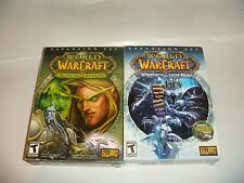 LOT OF (2) WORLD OF WARCRAFT EXPANSION SETS WRATH OF LICH KING BURNING CRUSADE