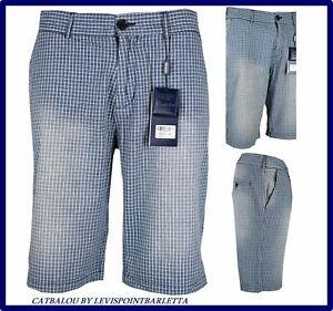 bermuda shorts jeans uomo pantaloncini corti cotone elegante pinocchietto 48 50