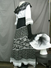 Victorian Dress Women's Edwardian Costume Civil War Style Reenactment w Hat
