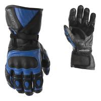 RST GT Mens CE BLUE Suzuki/Yamaha Motorcycle Leather Summer Sports Gloves