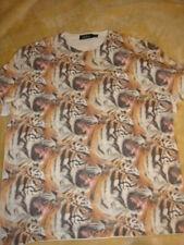 TopMan Men's tshirt Allover print Lion Head size X Large TopShop tiger