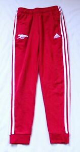 Adidas Arsenal Boy's Regular Fit Elastic Waist Sweatpants TM8 Red Medium
