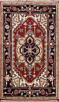 Geometric Heriz Serapi Oriental Area Rug Wool Handmade For Kitchen Carpet 3x4 ft
