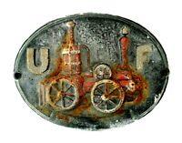 Antique Cast Iron United Firemen's Insurance Company Fire Mark Plaque