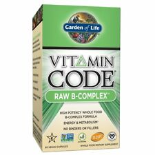 Garden of Life Vitamin Code Raw B-Complex, 60 Capsules , New, Free Shipping