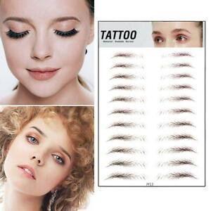 4D Pairs Eyebrow Tattoo Sticker Makeup Tattoo Sticker Authentic