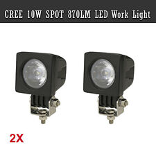 2 x 10W CREE LED Work Light Bar SPOT 870LM Modular 4WD Reverse Lamp DV 12V 24V