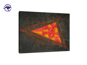 MODERN DECOR OIL PAINTING ABSTRACT TRIANGLE CONTEMPORARY WALL ART HAND PAINTED