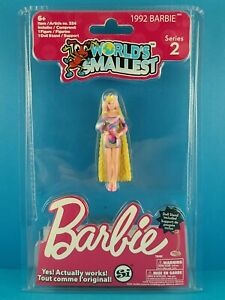 World's Smallest 1992 TOTALLY HAIR BARBIE Miniature Doll SERIES 2