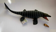 MOSASAUR MARINE DINOSAUR + FOSSIL TOOTH MODEL EDUCATIONAL COLLECTA Brand New!