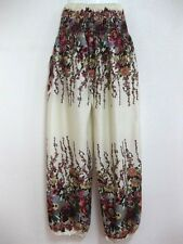 Ladies Smock Harem Pants Baggy Bohemian Boho Hippie Aladdin Yoga Trousers HFL-IV