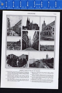 Views of the City of Cologne, GERMANY - 1950s Print