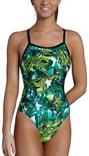 NWT Youth Girls SPEEDO GREEN Shining Star Flyback Racing Swimsuit 6 22 MSRP $70