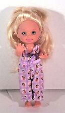 "BARBIE DOLL KELLY  5"" PURPLE CHECK JUMPER  BLONDE"