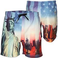 Soul Star New Mens Casual Printed Summer Beach Swim Water Long Surf Shorts