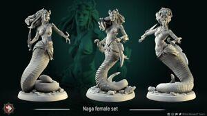 Naga Female by White Werewolf Tavern, D&D, Pathfinder, Warhammer