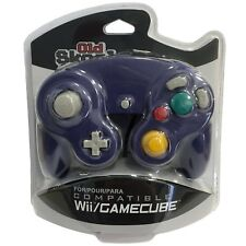Old Skool Dual Analog Controller for Nintendo Game Cube & Wii - Indigo (Purple)