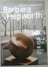 BARBARA HEPWORTH Sculpture for a modern world   2015 ART EXHIBITION POSTER