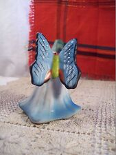 Butterfly Floral Ceramic Bell~Hand Painted 3 3/8 inches