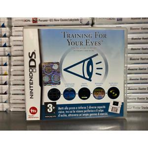 TRAINING FOR YOUR EYES NINTENDO DS COMPATIBILE 3DS 2DS USATO ESERCIZI MINIGIOCHI