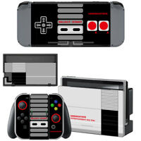 Nintendo Switch Console Joy-Con Skin NES Retro Vinyl Decal Stickers Covers