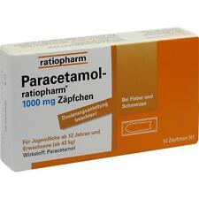 PARACETAMOL ratiopharm 1000 MG 10 unidades PZN3953611