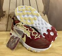 Nike React Element 55 Florida State FSU Seminoles Shoes CK4838-600 Men's Size 7