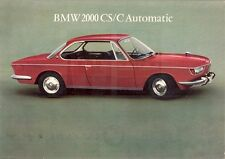 BMW 2000 Coupe 1966-67 Export Markets Leaflet Sales Brochure CS CA