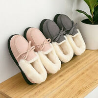 Non-Slip Moccasin Slippers Indoor Outdoor Home Wear Womens Casual Thicken Warm