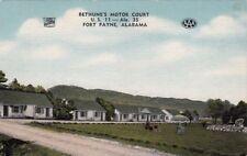 Postcard Bethune's Motor Court Fort Payne AL Alabama