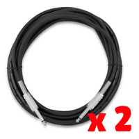 Guitar lead cable 6m 20 Ft 20ft Straight Jack Plugs patch Instrument cord x 2
