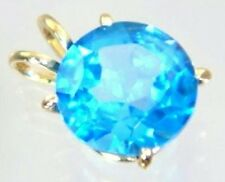 Swiss Blue Topaz, 14KY Gold, P089