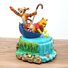 Disney Store Winnie The Pooh & Friends Floating in Umbrella Spinning Music Box