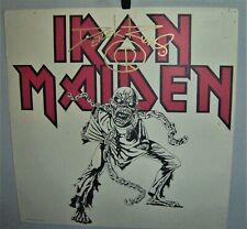 IRON MAIDEN Original PIECE OF MIND Promo Flat 1983 SIGNED by DEREK RIGGS  COOL
