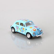 1967 Volkswagen Classical Blue Hippie Beetle 1:32 Scale Die Cast Hobby Model Car