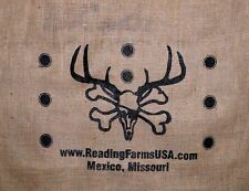 Reading Farms USA Archery target cover 40 x 30 inch face deer burlap bow hunting